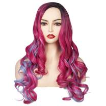 ColorGround Long Wavy Halloween Cosplay Wig (Mixed Color)