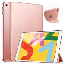 Ztotop Case for iPad 10.2 Inch 2019 - Slim Lightweight Trifold Stand Smart Shell with Auto Wake/Sleep + Rugged Translucent Back Cover for iPad 7th Generation 10.2 2019, Rosegold