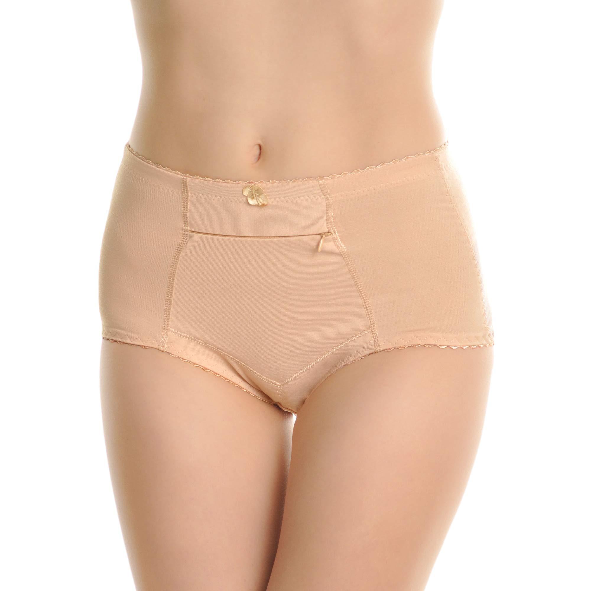 Angelina Women's High Waisted Zippered Pocket Girdle