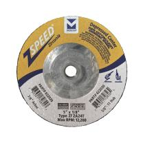 "Mercer Industries 622030 ZSpeed Zirconia Type 27 Pipe Cutting and Light Grinding Wheel, 5"" x 1/8"" x 5/8""-11, 20 Pack"