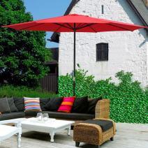 Yescom 13ft XLarge UV 30+ Aluminum Outdoor Patio Umbrella for Table Garden Deck Market Yard Beach Cafe Pool Sun Shading