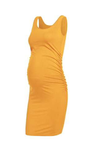 Amposh Women S Maternity Tank Dress Casual Ruched Bodycon Pregnancy Dress For Photoshoot And Daily Wear