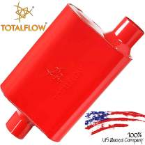 "TOTALFLOW 15442 Two-Chamber Universal Muffler - 2.25"" Center In / 2.25"" Offset Out"