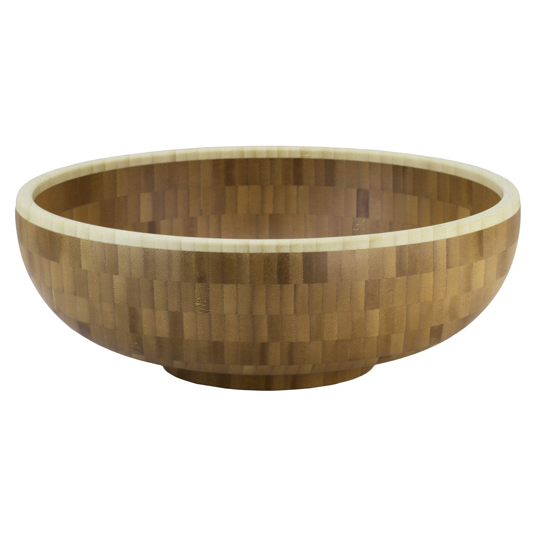 """Totally Bamboo Classic Large Bamboo Serving Bowl, 12"""" x 12"""" x 4-1/2"""""""