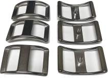 """Multi-Pack of Conway Buckles, 100% Stainless Steel, Pack of 6, Rust-Free, Ideal for Use On Pack Saddles and Tack, Or Any Application That Requires Strap Length Adjustment (1/2"""")"""