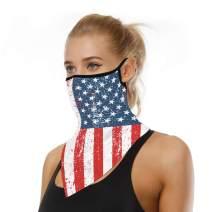 Face Scarf Bandana Ear Loops Face Mask Rave Balaclava Men Women Neck Gaiters Dust Wind Motorcycle Mask Headwear