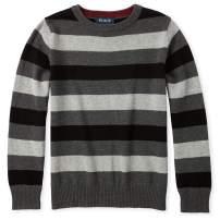 The Children's Place Boys' Big Long Sleeve Stripe Sweater