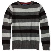 The Children's Place Boys' Big Long Sleeve Stripe Sweater