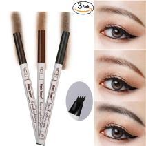 Tattoo Eyebrow Pen,Shouhengda Eyebrow Long Lasting Tint Dye Cream,Waterproof,Smudge-proof Brow Gel for Eyes Makeup (3 Colors Set)