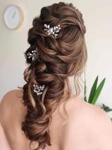 Unicra Wedding Hair Pins Rhinestone Hairpins Hair Set Crystal Jewelry Decorative Bridal Hair Accessories Pack of 3 (Gold)