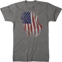 Distressed Hanging US Flag Men's Modern Fit Tri-Blend T-Shirt