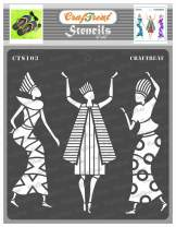 CrafTreat Tribal Stencils for Painting on Wood, Wall, Tile, Canvas, Paper, Fabric and Floor - Egyptians - 6x6 Inches - Reusable DIY Art and Craft Stencils - Egyptian Stencils for Walls