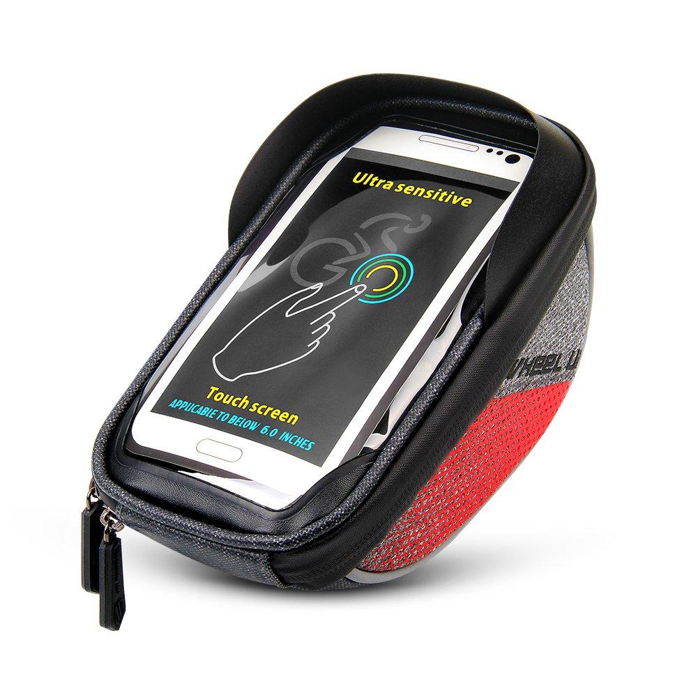 Dekinmax Bike Bag Bicycle Front Frame Bag Cycling Waterproof Sensitive Touch Screen Top Tube Bag Fits Phones Below 6 0 Inches