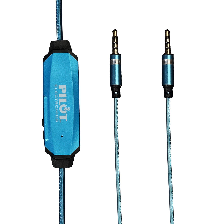 Pilot Electronics EL-1301BT Msync Auxiliary Audio Cable, Blue