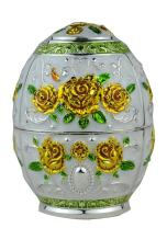 Quality Fashion Classic Handmade Auto Antomatic Toothpick Holder Royal Russian Style (Gold Yellow Rose Flower)