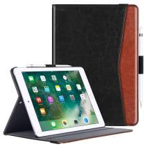 "BENTOBEN Case for iPad Air 3 10.5"" 2019 (3rd Generation)/iPad Pro 10.5 Case 2017, Premium Business Smart Auto Wake/Sleep Folding Folio Cover with Apple Pencil Holder Multiple Angles Stand, Black/Brown"
