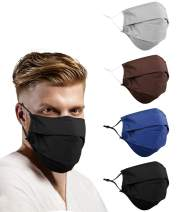 Gyothrig Fashion Face and Beard Extra Large Reusable Cloth Adult Reversible Covering for Bearded Men