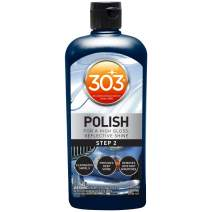 303 (30704) Products Automotive Polish for High Gloss, Reflective Shine - Eliminates Swirls - Provides Deep Shine - Removes 2000 Grit Scratches (Step 2), 12 fl oz