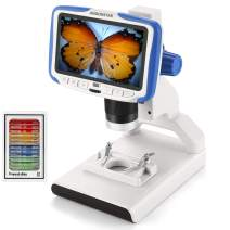 Andonstar Andonstar AD205 USB LCD Coin Digital Microscope for Kids 200X Magnification Zoom 5 inch Screen Lab Handheld Camera with Sample Slides