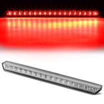 Chrome Housing Full LED 3rd Third Tail Brake Light Lamp Black Replacement for Chevy Suburban Tahoe 15-20