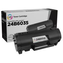 LD Compatible Toner Cartridge Replacement for Lexmark M1145 24B6035 (Black)