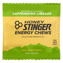 Honey Stinger Organic Energy Chews, Limeade, Naturally Caffeinated, Sports Nutrition, 1.8 Ounce (Pack of 12)
