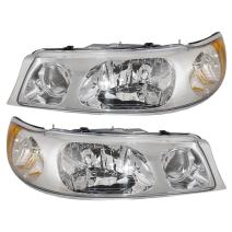 Brock Replacement Driver and Passenger Headlights Headlamps Compatible with 1998-2002 Town Car 1W1Z 13008 CA 1W1Z 13008 BA