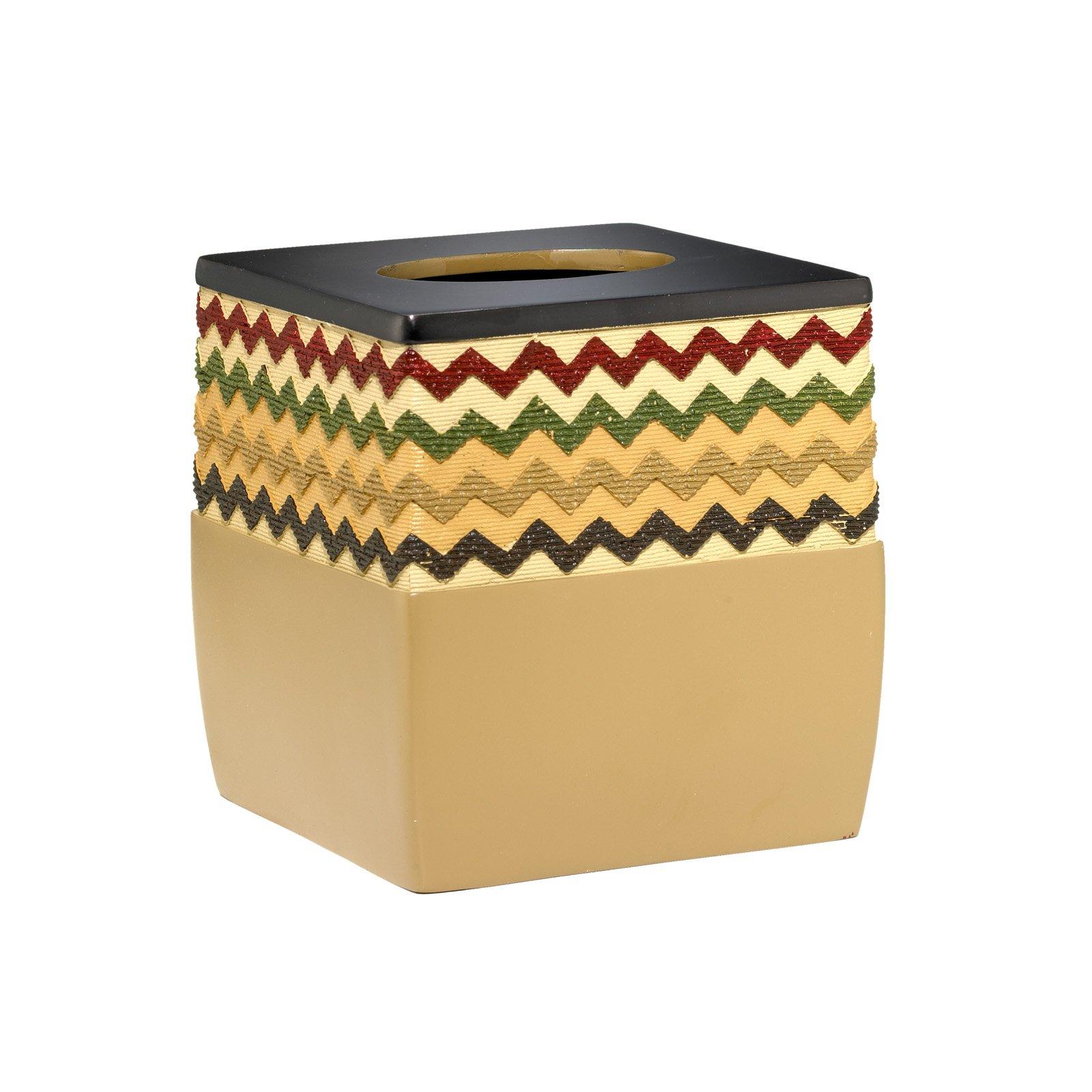 Popular Bath Tissue Box, Waves Collection, Mocha