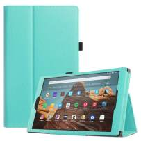 Fintie Folio Case for All-New Amazon Fire HD 10 Tablet (Compatible with 7th and 9th Generations, 2017 and 2019 Releases) - Premium PU Leather Slim Fit Stand Cover with Auto Wake/Sleep, Robin Egg Blue