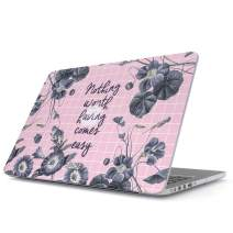 Glitbit Hard Case Cover Compatible with MacBook Pro 13 Inch Case Release 2016-2018 Model:A1989 /A1706 /A1708 with or Without Touch Bar Quotation Inspiration Easy Motivational Sucess Quote Work Hustle
