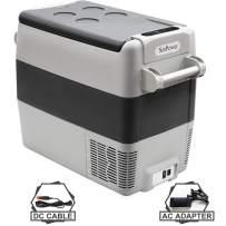 Setpower AJ50 53 Quarts Portable Freezer Fridge Car Refrigerator, -0.4℉-50℉, DC 12/24V, AC 110-240V, with AC Adapter & Wireless Thermometer