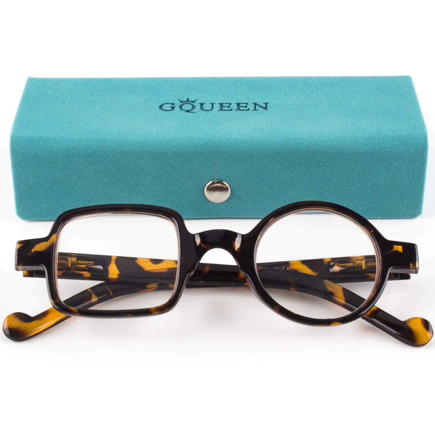 GQUEEN Stylish Reading Glasses Men Women Spring Hinge Unisex Readers Glasses 1.5 LH13