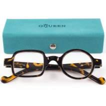 GQUEEN Stylish Reading Glasses Men Women Spring Hinge Unisex Readers Glasses 3.0 LH13