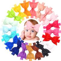 JOYOYO 20pcs Baby Girls headbands With 5in Hair Bows Soft Band for Infant Newborn Toddlers