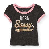 The Children's Place Baby Girls 3501 Short Sleeve Fashion Top