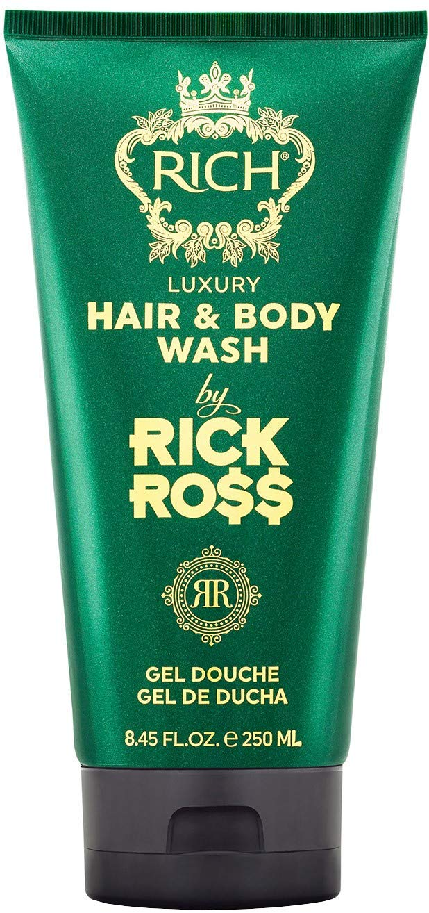 RICH by Rick Ross Luxury Hair & Body Wash 2-in-1 for Men with All Hair & Skin Types – Cleansing, Moisturizing & Hydrating for Both Hair and Skin, 8.45 Fl oz