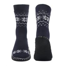 Vihir Men's Winter Knitted Non-Skid Home Warm Slipper Socks Indoor Floor Stocking House Shoes