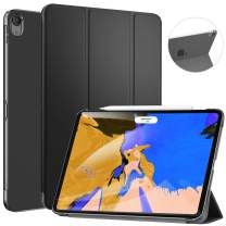 Ztotop Case for iPad Pro 12.9 Inch 2018 (3rd Gen) - Slim Tri-fold Stand Cover with Auto Wake/Sleep and Hard Translucent Back Cover for 3rd Generation iPad Pro 12.9 Inch 2018 Released, Black