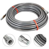 Happybuy 3/8 Inch Pressure Washer Hose 200Ft Power Washer Hose 4500 PSI Carpet Cleaning Hose for Cold Water Replacement Extension Hose