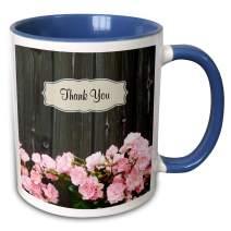 3dRose 287489_11 Mug 15oz Blue/White