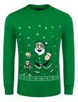 COOFANDY Men's Ugly Christmas Sweaters Knitted Long Sleeve Crewneck Pullovers