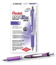 Pentel Gel Ink Pen, Gel Ink Pen, 0.7mm Tip, Violet Ink, Box of 12 Pens (BL77-V)