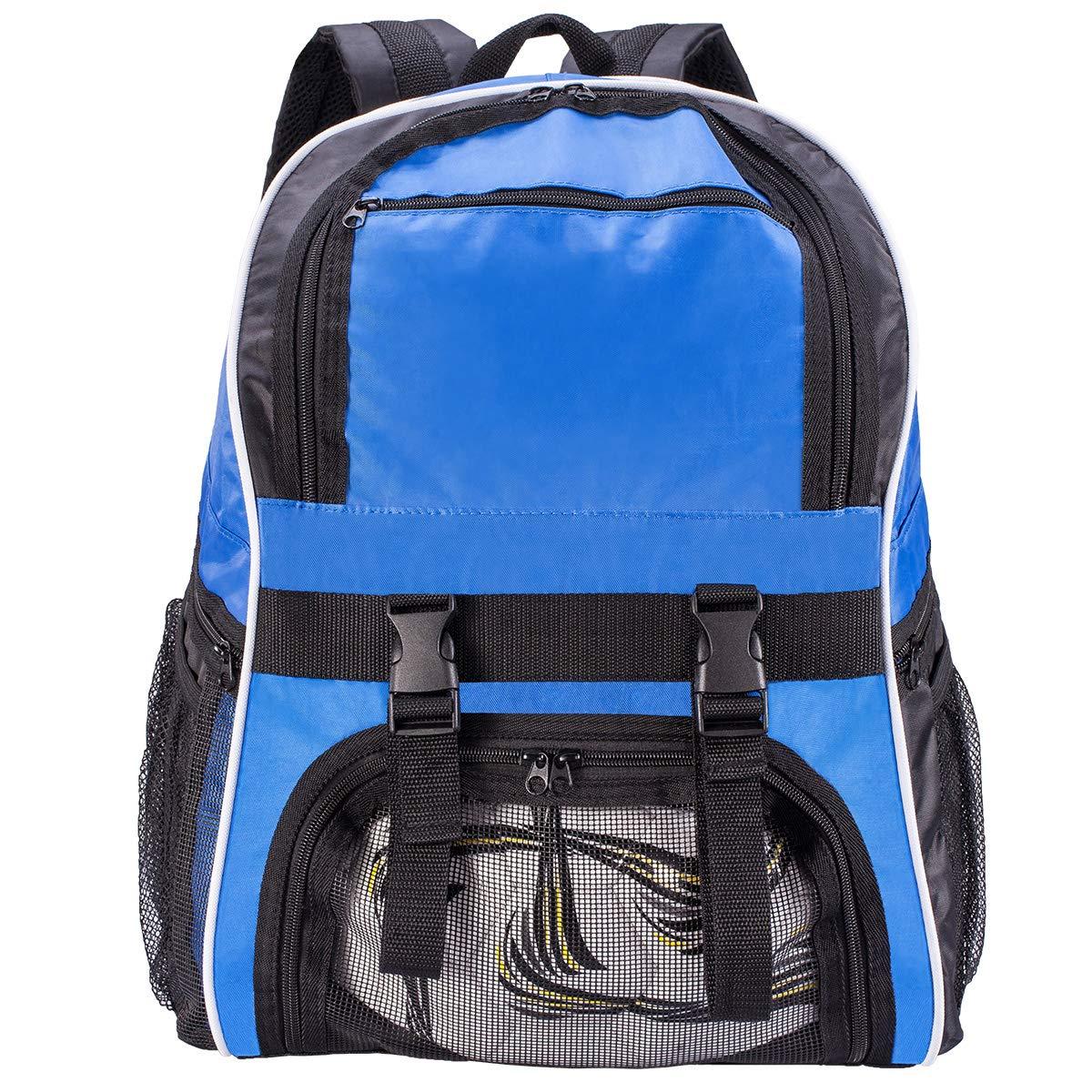 WOT I Soccer Backpack Basketball Backpack Sports Backpack for Soccer, Basketball, Football, Volleyball, Soccer Bags with Ball Holder Soccer Bag