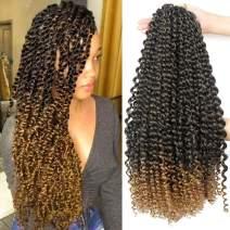 SUKRI Passion Twist Hair Crochet Braid Extensions Synthetic Crotchet Braids Spring Braiding Hair For Fluffy (Passion Twist #1B/27)