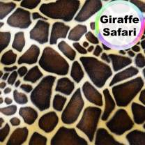 Barcelonetta | Animal Print Fur Fabric | Velboa Fabric | Faux Animal Fur | Short Pile | Animal Texture | 62'' Inch Wide | DIY Crafts, Decoration, Upholstery (Giraffe Safari, 2 Yard)