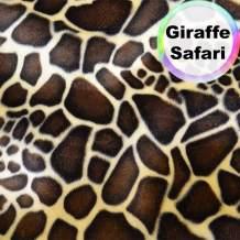 Barcelonetta | Animal Print Fur Fabric | Velboa Fabric | Faux Animal Fur | Short Pile | Animal Texture | 62'' Inch Wide | DIY Crafts, Decoration, Upholstery (Giraffe Safari, 5 Yard)