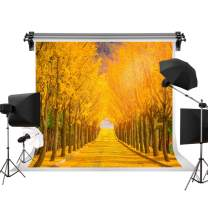 Kate 7x5ft/2.2m(W) x1.5m(H) Autumn Scenery Backdrop Ginkgo Trees Fall Leaves Background Real Scene Photography Backdrops