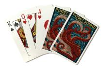 Puget Sound, Washington - Octopus Mosaic (Playing Card Deck - 52 Card Poker Size with Jokers)