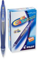 PILOT G6 Refillable & Retractable Gel Ink Rolling Ball Pen, Fine Point, Blue Ink, 12 Count (31402)