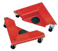 """Hu-Lift AR150 Desk and Cabinet Corner Mover Dolly, 1320 Lb Capacity/4 Pieces, 10.5"""" Length x 10.5 Width x 3.35"""" Height (Case of 4)"""